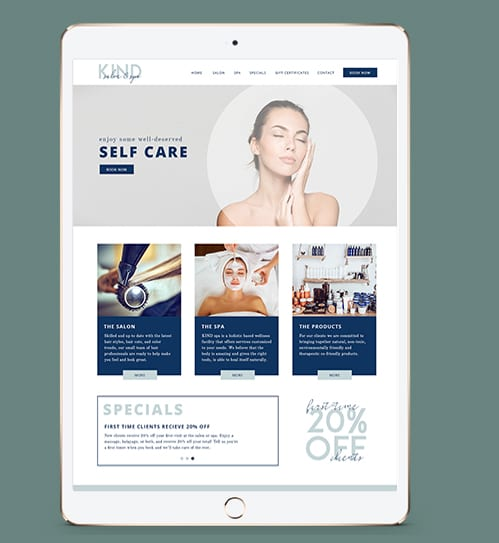 Kind Salon & Spa - South Florida Website Design